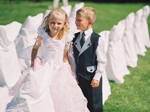 На жениха с невестой а когда дети