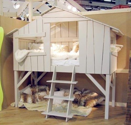 Сделать кровать домик 157