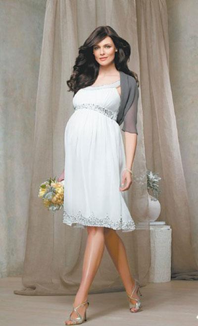 Свадебные платья для беременных (50 фото) беремнные в свадебном