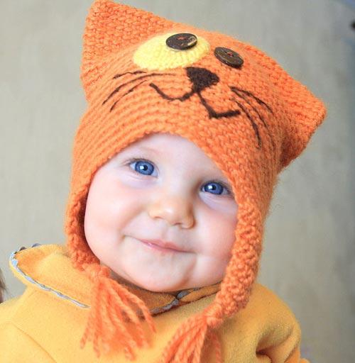 Вязаные шапки детские своими руками