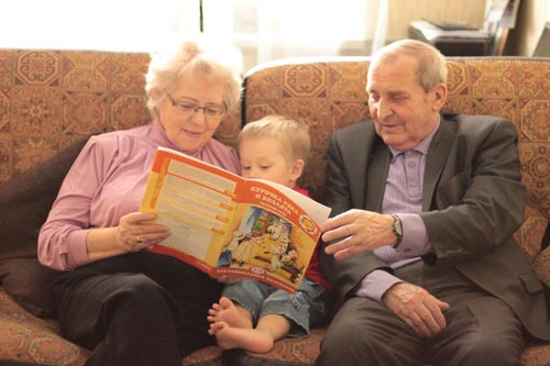 Фото дед и внучка